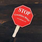 7 W x 7.375 H Inch Custom Printed Stop Sign...