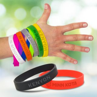 Imprinted Silicone Bracelets