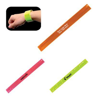 Custom Imprinted Reflective Safety Slap Bracelets