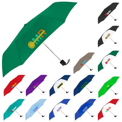 41 Inch Arc Promotional Compact Econo Folding Umbrellas