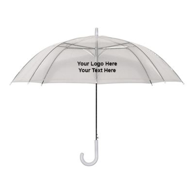 46 Inch Arc Custom Logo Transparent Umbrellas