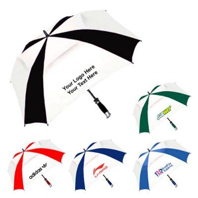 62 Inch Arc Custom Printed Vented Square Golf Umbrella