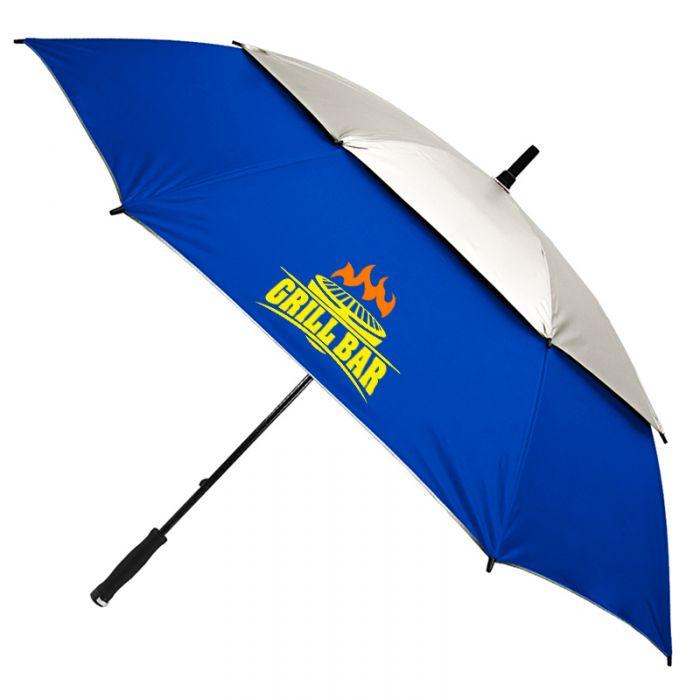 62 Inch Arc Promotional Vented UV Golf/Beach Umbrellas