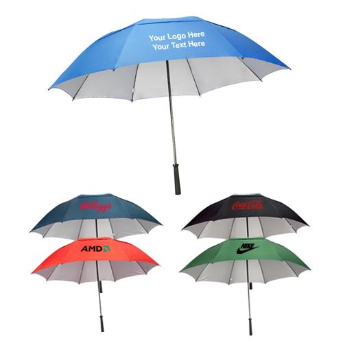 62 Inch Personalized Manual Open Umbrellas