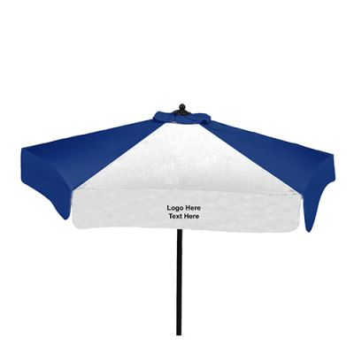 7 Ft Custom Printed New Steel Valance Outdoor Market Umbrellas