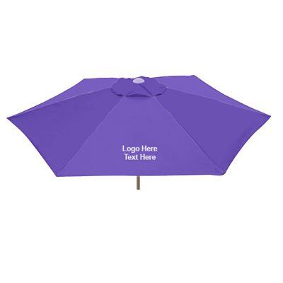 7 Ft Promotional Aluminum Fiberglass Patio Umbrellas