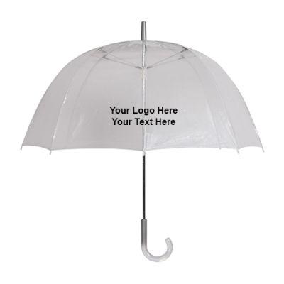 48 Inch Arc Custom Clear Umbrellas