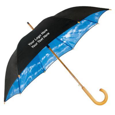 48 Inch Custom Auto-Open Wood Shaft Fashion Umbrellas
