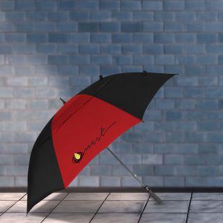 Custom Printed 62 Inch Arc Vented Golf Course Umbrellas