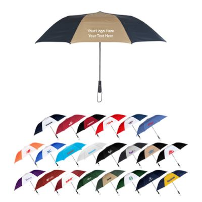 58 Inch Arc Personalized Vented Economy Logo Umbrellas