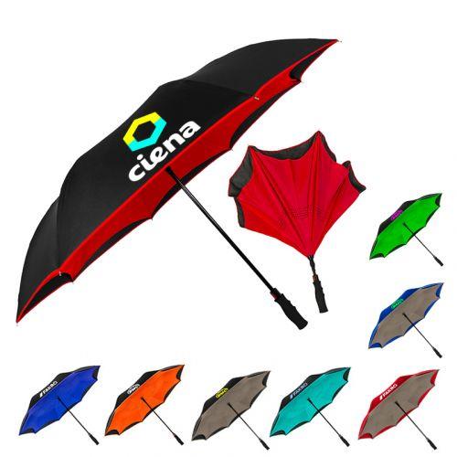 Custom Printed Inversa Inverted Umbrellas