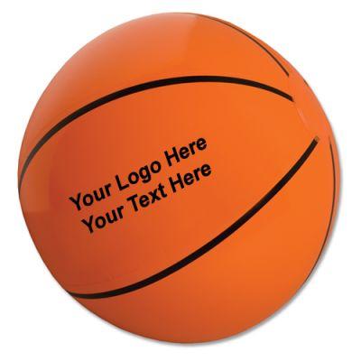 14 Inch Promotional Basketball Shaped Beach Balls