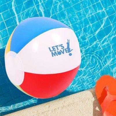 6 Inch Personalized Multi Colored Beach Balls