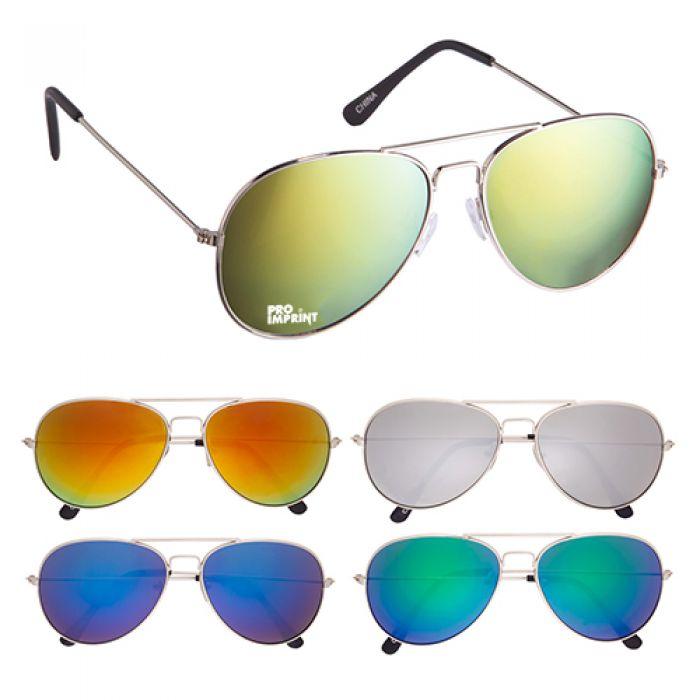 Color Mirrored Navigator Sunglasses
