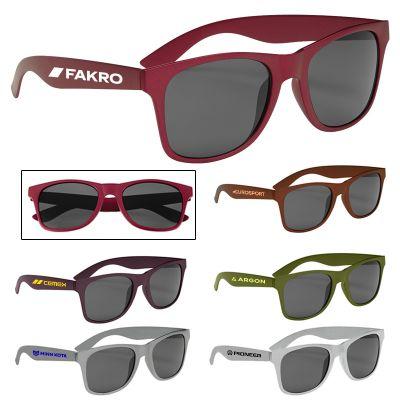 Custom Printed Matte Finish Malibu Sunglasses