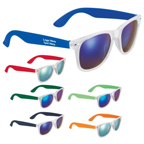 Custom Printed Sun Ray Mirror Sunglasses