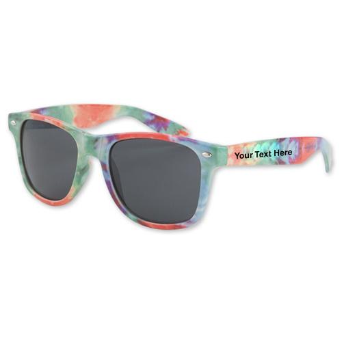 Custom Printed Tye Dye Sunglasses