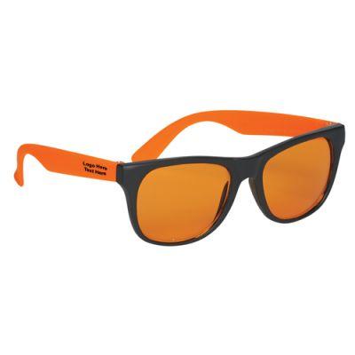 Promotional Logo Tinted Lenses Rubberized Sunglasses