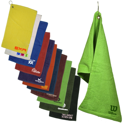 custom logo imprinted- golf towels