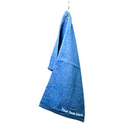 custom logo imprinted dark colored fingertip towel with grommet - Fingertip Towels