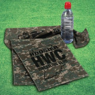 Custom Logo Imprinted Camo Design Towels