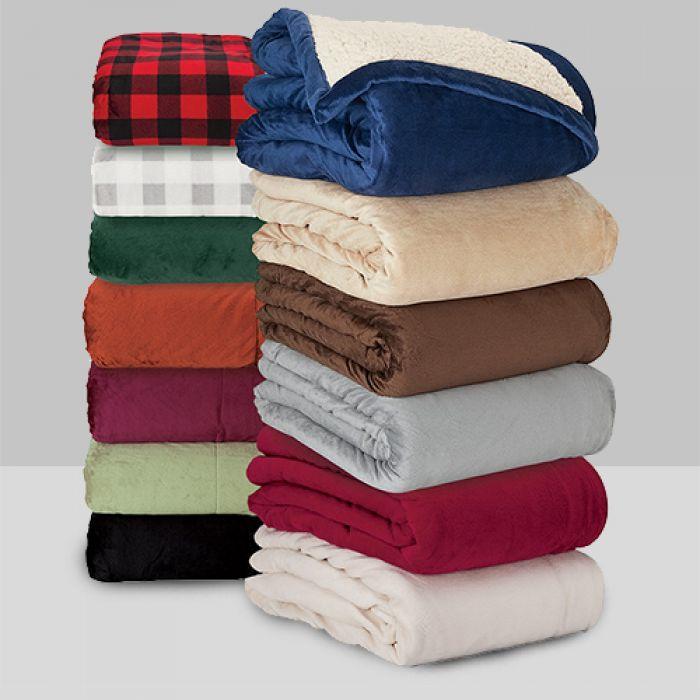 Brookline Micro Mink Sherpa Blankets
