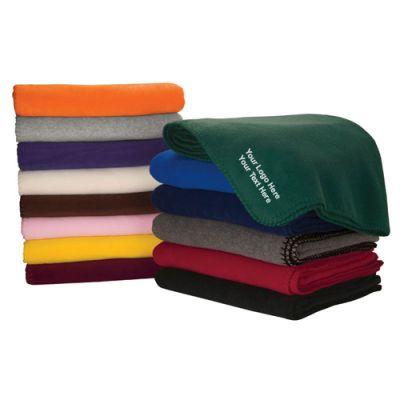 Custom Imprinted Fleece Blankets