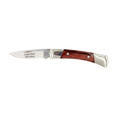 Custom Engraved Buck Prince Lockback Folding Knives