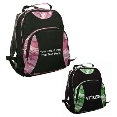 Custom Printed Kids Camo Double Backpacks
