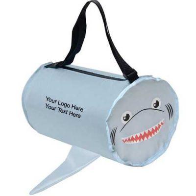 Custom Imprinted Shark Shaped Barrel Bags