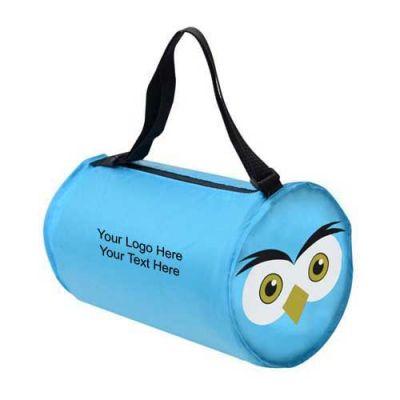 Custom Printed Owl Shaped Barrel Bags