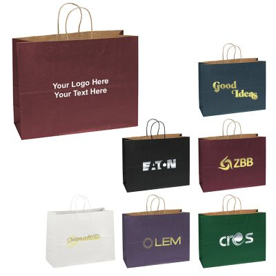 16 x 6 x 12 Custom Judy Matte Paper Shopping Bags