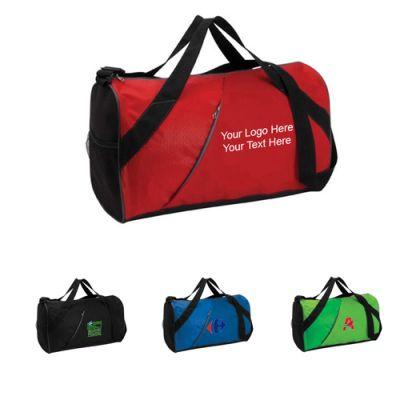 Custom Logo Imprinted Banner Duffel Bags