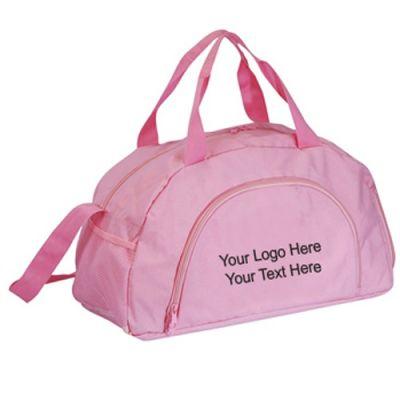 Custom Printed Big Pink Duffel Bags
