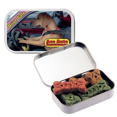 Custom Imprinted Large Dog Bones Tins