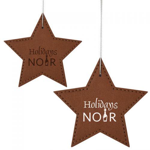 Custom Printed Leatherette Ornament - Star