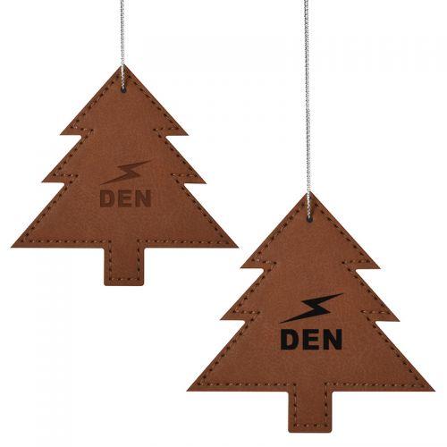 Leatherette Ornament - Tree