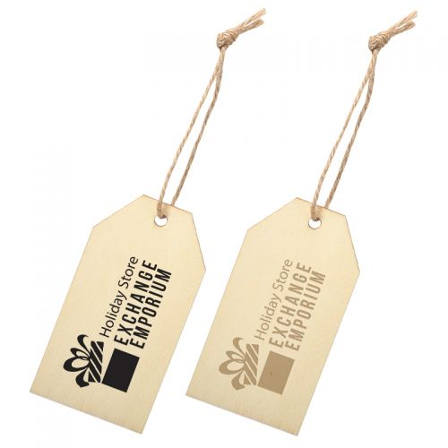 Printed Wood Ornament - Gift Tags