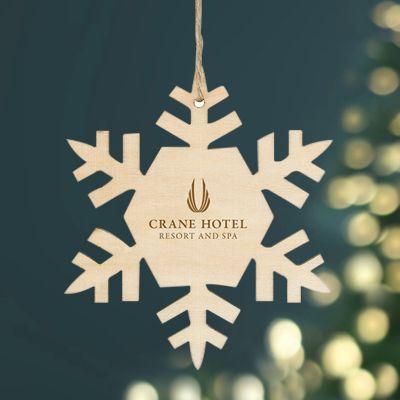 Customized Wood Ornaments - Snowflake