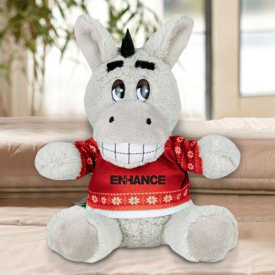 Promotional 6 Inch Ugly Christmas Sweater Donkey