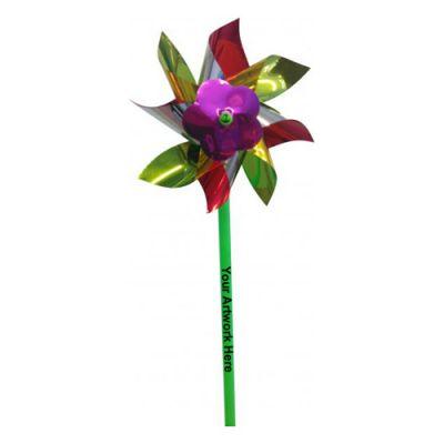 4 Inch Custom Printed Multicolor Pinwheels