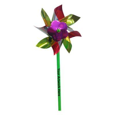 5 Inch Promotional Logo Multicolor Pinwheels