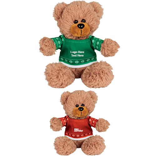 c096bb80816c 6 Inch Promotional Ugly Christmas Sweater Sitting Bear - Stuffed & Plush  Animals
