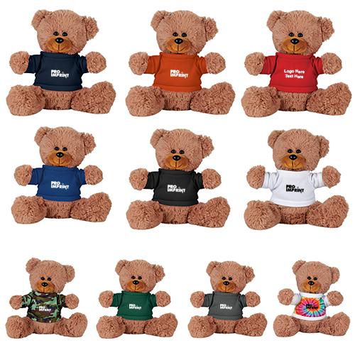 68819702ceea 8 Inch Promotional Logo Sitting Plush Bear with Shirt - Stuffed & Plush  Animals