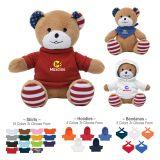Custom Printed 6 Inch Patriotic Bear