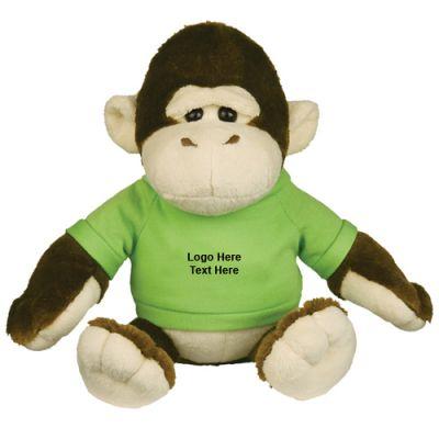 Custom Printed 8.5 Inch Goofy Gorilla Plush Toy