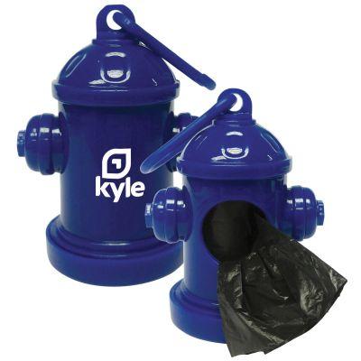Custom Fire Hydrant Pet Clean Up Baggie Dispenser