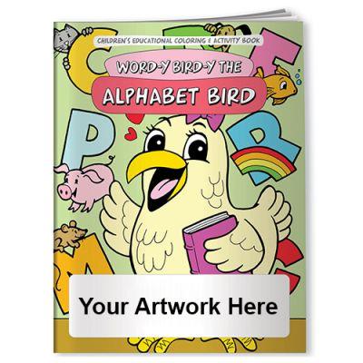 Custom Printed Word-Y Bird-Y The Alphabet Bird Coloring Books