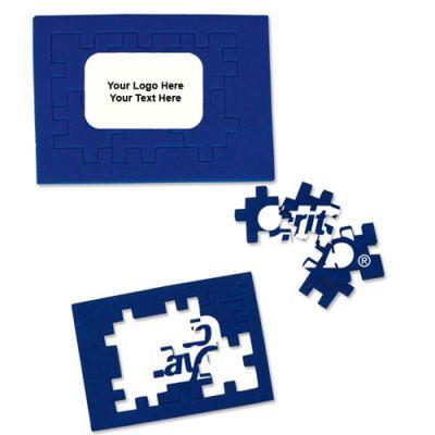 Promotional Logo Foam Puzzle - Blue