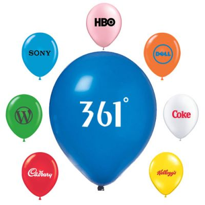 11 Inch Custom Printed AdRite Economy Line Latex Balloons
